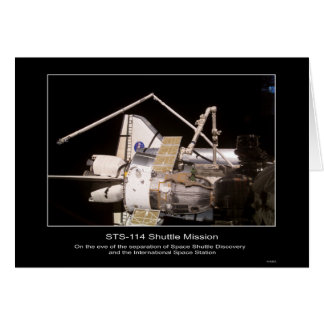 Space Shuttle Discovery and the International Spac Card
