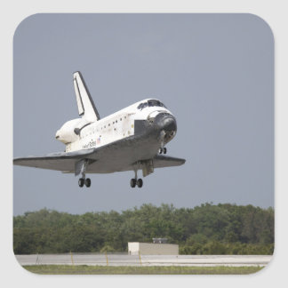 Space Shuttle Discovery approaches landing 2 Square Sticker