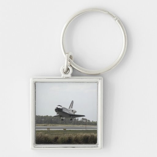 Space Shuttle Discovery approaches landing Keychain