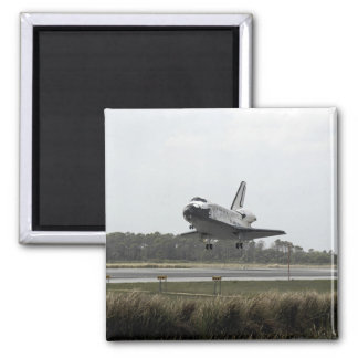 Space Shuttle Discovery approaches landing Refrigerator Magnet