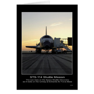 Space Shuttle Discovery as it rests at Edwards Air Greeting Card