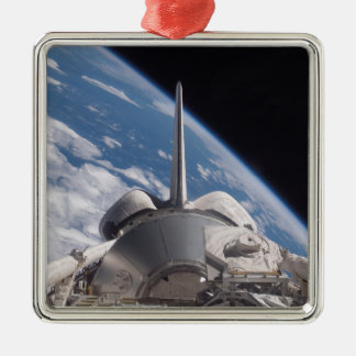 Space Shuttle Discovery backdropped by Earth Christmas Ornament