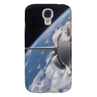 Space Shuttle Discovery backdropped by Earth Galaxy S4 Case