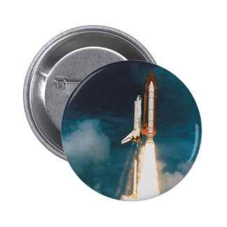 Space Shuttle Discovery Blast Off 6 Cm Round Badge