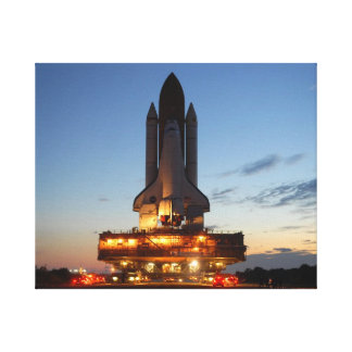 Space shuttle Discovery Stretched Canvas Print