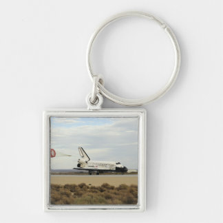 Space Shuttle Discovery deploys its drag chute Key Ring