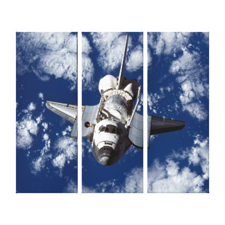 Space Shuttle Discovery In Space Stretched Canvas Print