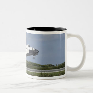 Space shuttle Discovery lands on Runway 33 Two-Tone Coffee Mug