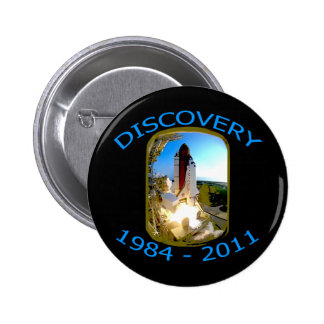 Space Shuttle Discovery Launch 6 Cm Round Badge