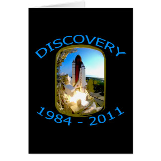 Space Shuttle Discovery Launch Greeting Card