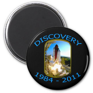 Space Shuttle Discovery Launch Refrigerator Magnet