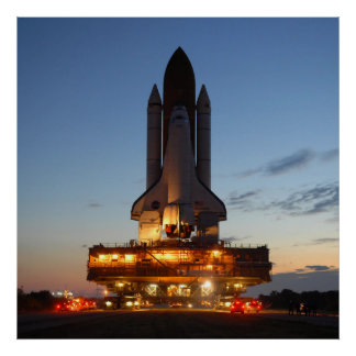 Space Shuttle Discovery Launch NASA Poster