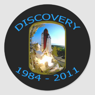 Space Shuttle Discovery Launch Round Sticker
