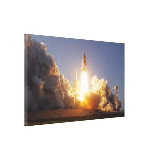 Space Shuttle Discovery Lift-Off (2011) Stretched Canvas Print
