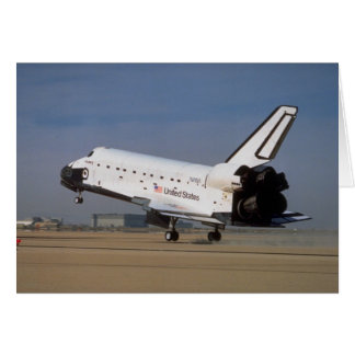 Space shuttle Discovery, Mojave Desert, California Greeting Card