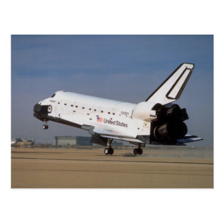 Space shuttle Discovery, Mojave Desert, California Postcard