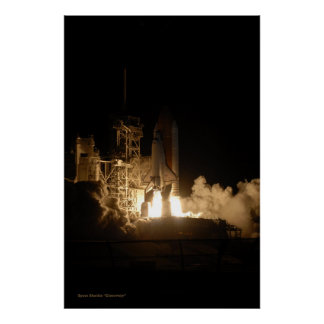 Space Shuttle Discovery Night Launch Print