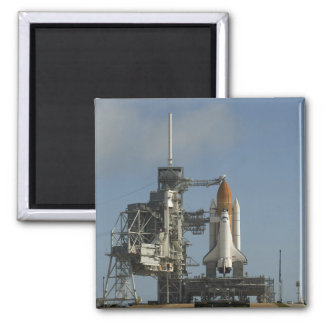 Space Shuttle Discovery sits ready 2 Square Magnet