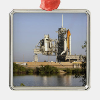 Space Shuttle Discovery sits ready 3 Christmas Ornament