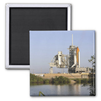 Space Shuttle Discovery sits ready 3 Square Magnet