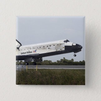 Space Shuttle Discovery touches down 15 Cm Square Badge