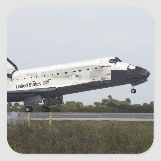 Space Shuttle Discovery touches down Square Sticker