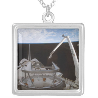 Space Shuttle Discovery's payload bay 2 Silver Plated Necklace