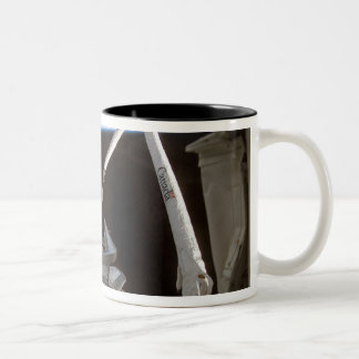 Space Shuttle Discovery's payload bay 2 Two-Tone Coffee Mug
