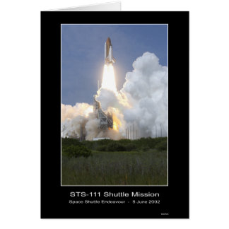 Space Shuttle Endeavor Lift-off June 5, 2002 STS-1 Greeting Card