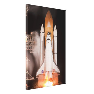Space Shuttle Endeavor Lifts Off Stretched Canvas Prints
