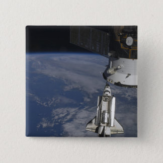 Space shuttle Endeavour 2 15 Cm Square Badge