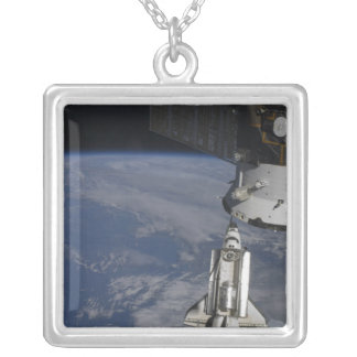 Space shuttle Endeavour 2 Silver Plated Necklace