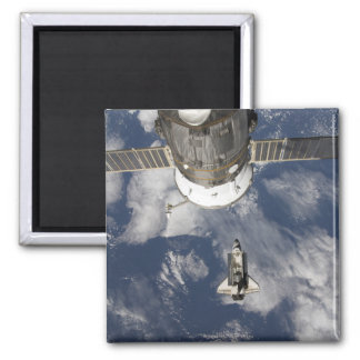 Space Shuttle Endeavour 8 Square Magnet