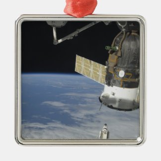 Space shuttle Endeavour, a Soyuz spacecraft Christmas Ornament