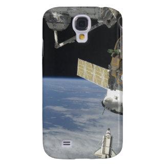 Space shuttle Endeavour, a Soyuz spacecraft Galaxy S4 Case