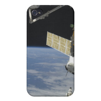 Space shuttle Endeavour, a Soyuz spacecraft iPhone 4 Cover