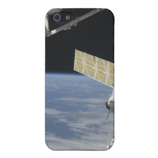 Space shuttle Endeavour, a Soyuz spacecraft iPhone 5 Case