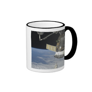 Space shuttle Endeavour, a Soyuz spacecraft Ringer Coffee Mug