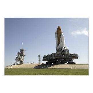 Space Shuttle Endeavour approaches the launch p Photo Print