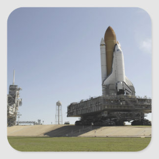 Space Shuttle Endeavour approaches the launch p Square Sticker