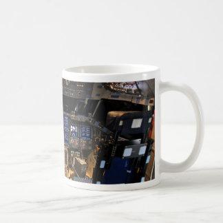 Space Shuttle Endeavour Cockpit Basic White Mug