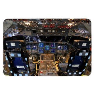 Space Shuttle Endeavour Cockpit Rectangular Photo Magnet