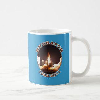 Space Shuttle Endeavour Final Launch Classic White Coffee Mug