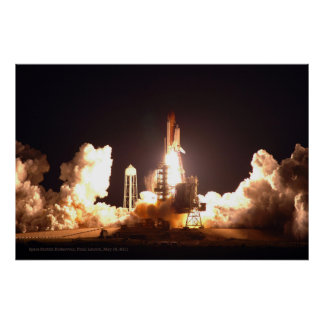 Space Shuttle Endeavour Final Launch Poster Print