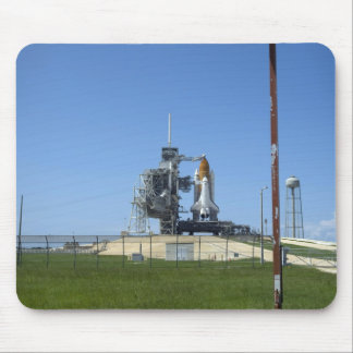 Space shuttle Endeavour is framed by a windsock Mouse Mat