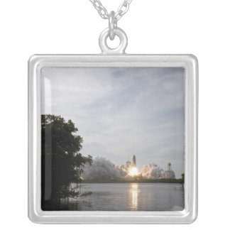 Space Shuttle Endeavour lifts off 3 Silver Plated Necklace