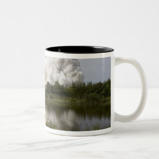 Space Shuttle Endeavour lifts off 7 Two-Tone Coffee Mug