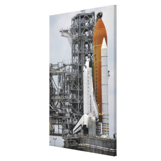 Space Shuttle Endeavour on the launch pad 2 Canvas Print