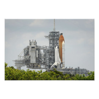Space Shuttle Endeavour on the launch pad 2 Photo Print