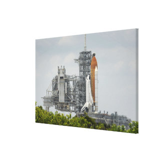 Space Shuttle Endeavour on the launch pad 3 Canvas Print